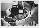 Dr. William Glenn with patient in 1977-78