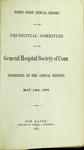 Forty-First Annual Report of the Prudential Committee of the General Hospital Society of Connecticut by General Hospital Society of Connecticut