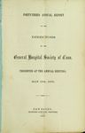 Forty-Third Annual Report of the Directors of the General Hospital Society of Connecticut by General Hospital Society of Connecticut