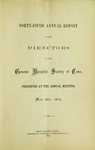 Forty-Fifth Annual Report of the Directors of the General Hospital Society of Connecticut by General Hospital Society of Connecticut