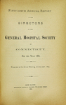 Fifty-Sixth Annual Report of the Directors of the General Hospital Society of Connecticut by General Hospital Society of Connecticut