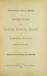 Fifty-Ninth Annual Report of the Directors of the General Hospital Society of Connecticut