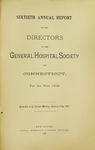 Sixtieth Annual Report of the Directors of the General Hospital Society of Connecticut by General Hospital Society of Connecticut