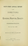 Sixty-First Annual Report of the Directors of the General Hospital Society of Connecticut by General Hospital Society of Connecticut
