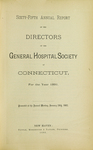 Sixty-Fifth Annual Report of the Directors of the General Hospital Society of Connecticut
