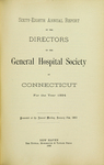Sixty-Eighth Annual Report of the Directors of the General Hospital Society of Connecticut