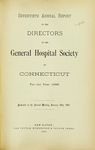 Seventieth Annual Report of the Directors of the General Hospital Society of Connecticut by General Hospital Society of Connecticut