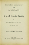 Seventy-First Annual Report of the Directors of the General Hospital Society of Connecticut by General Hospital Society of Connecticut
