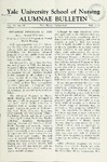 Yale University School of Nursing, Alumnae Bulletin, Vol VI No. 10  Fall, 1953