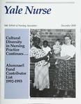 Yale Nurse: Yale School of Nursing Newsletter, December 1993