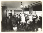 Nursing students in a laboratory class