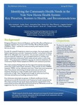 Identifying the Community Health Needs in the Yale New Haven Health System: Key Priorities, Barriers to Health, and Recommendations by Julia Anderson, Kathy Doan, Alexandra Hua, Maria Ma, Ema Tiburcio, Augusta Mueller, Carolyn Salsgiver, Kathy Carley-Spanier, Sarah Ali, Danya Keene, and Debbie Humphries