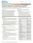 Planned Parenthood - Evaluation of Childbirth Education Needs in Southern New England
